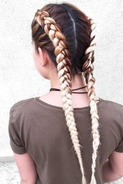 cute double dutch braids ideas