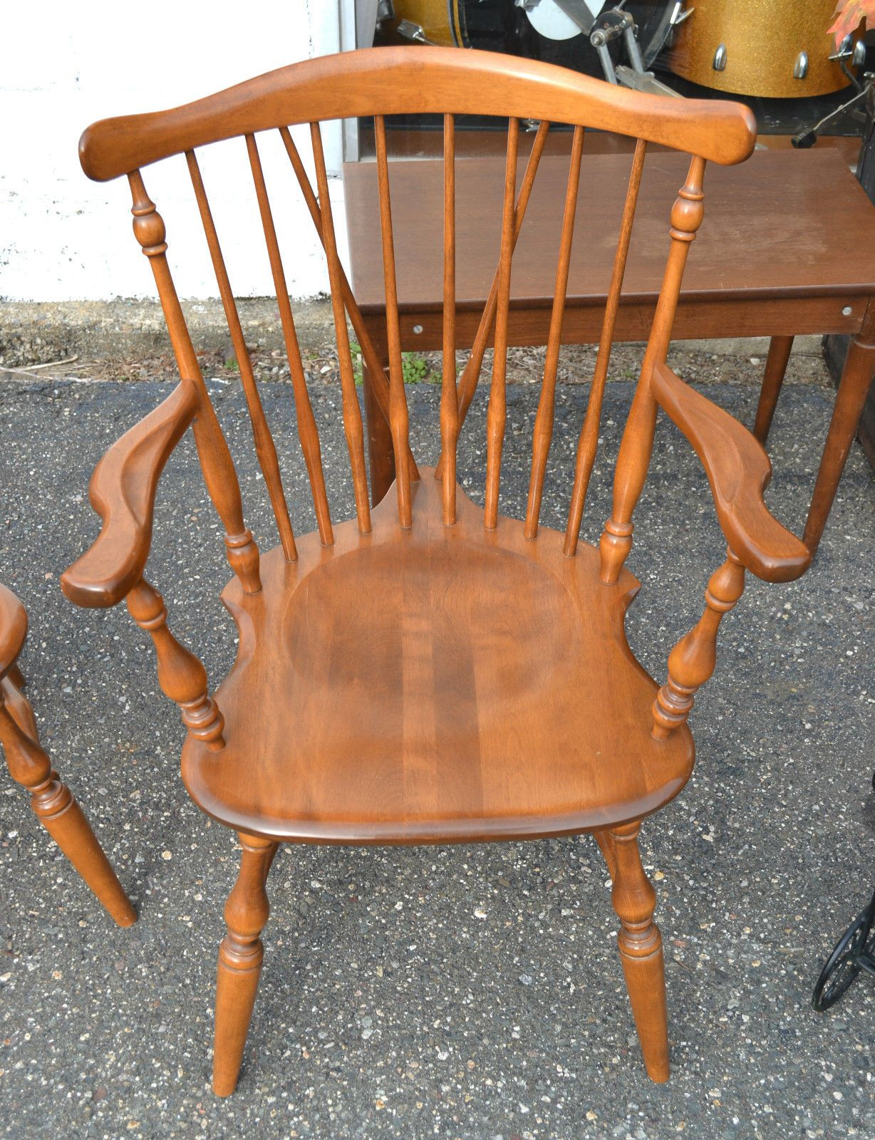 maple rocking chair swing office ethan allen early american birch and diningroom style