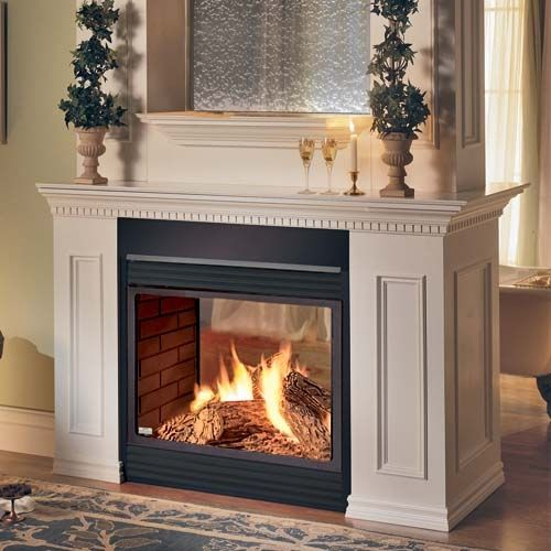 two sided fireplace