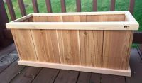 Planter Box. Made from cedar fence pickets and cedar deck ...