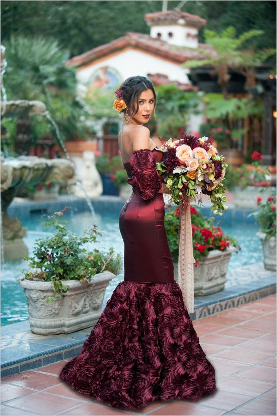 Red And Gold Spanish Wedding Ideas  Alternative wedding