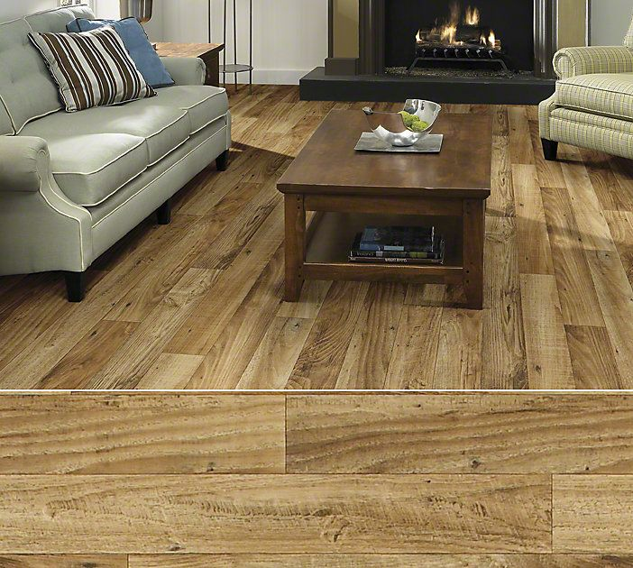 Shaw Duratru resilient sheet flooring in style Knollwood
