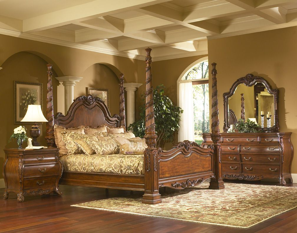 king charles bedroom furniture set collection with poster bed