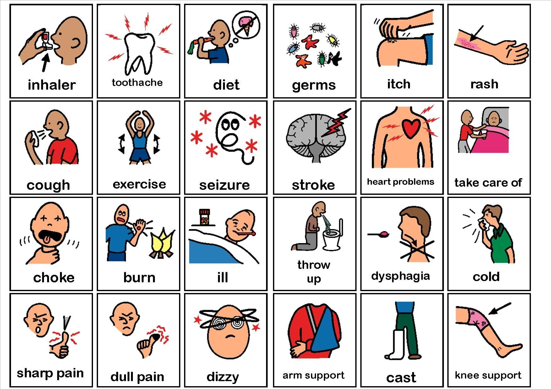 Print Communication Boards For Aphasia