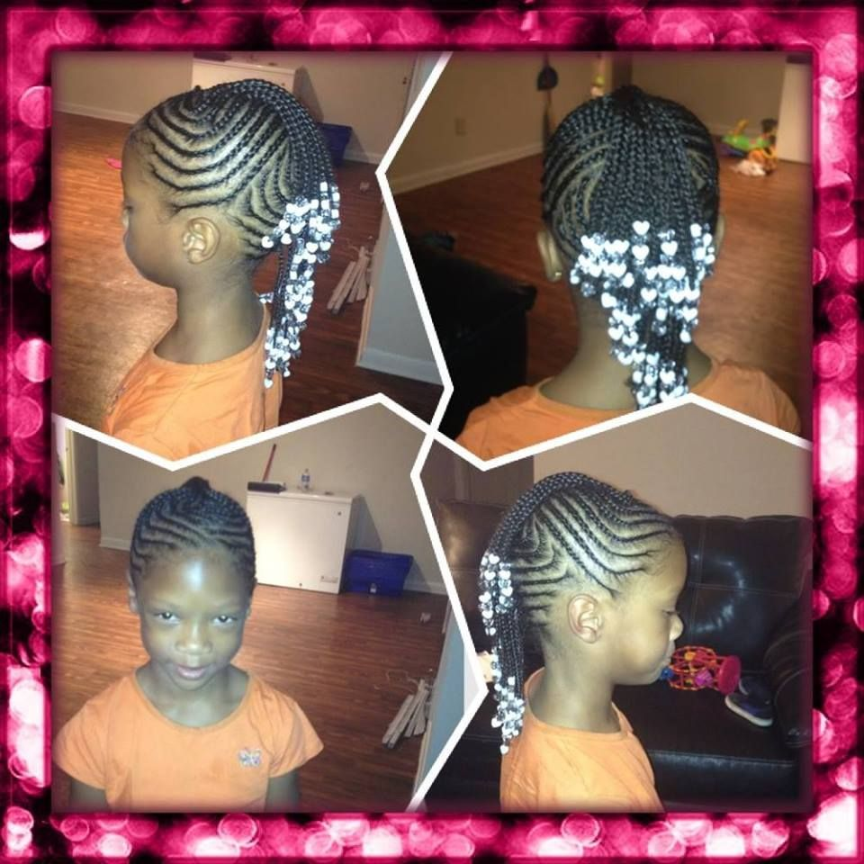 Fancy Cornrowed Mohawk With Braids And Beads Hair & Beauty