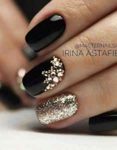 Christmas Nails Design Black And Gold Valoblogi Com