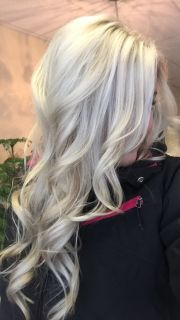 platinum blonde with silver hair