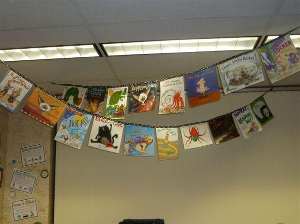 Book Cover Banner - Great Of Hardcover Dust Jackets Preschool Bulletin Board
