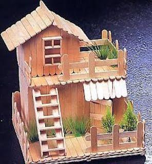 Another Cute Popsicle Stick House Idea Craftysticks Com