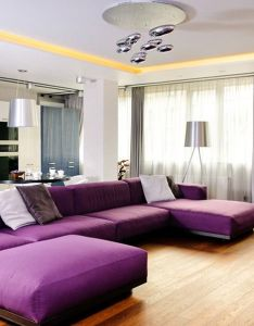Modern apartment interior design in odessa by eno getiashvili also warna ungu diaplikasi pada ruang keluarga purple rh pinterest