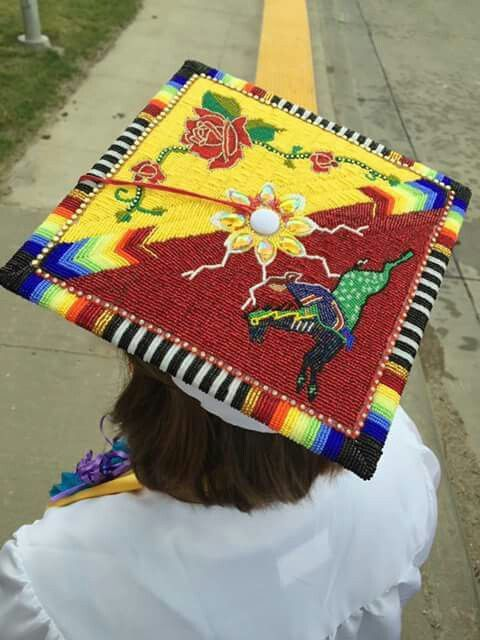 Beaded Cap Graduation Native American