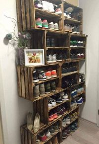 10 Shoe Storage Ideas to Keep You Sane | Crates, Storage ...
