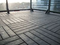 """""""After"""" shot of our Charcoal-Grey outdoor floor balcony ..."""
