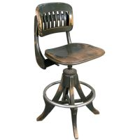 Antique Industrial Drafting Stool by Sikes | Industrial ...
