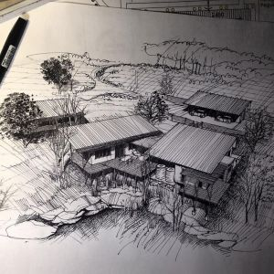 drawing architecture sketch sketches straight line drawings curved cross using hatch techniques interior lines building simple hatching organic designs instagram