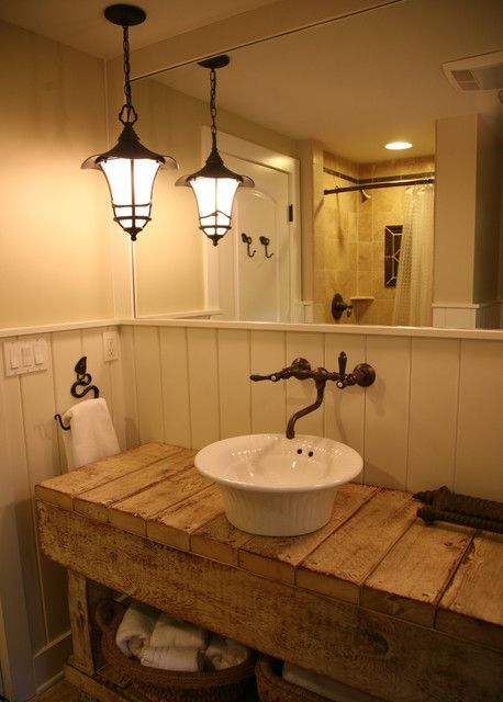 Bathroom Cottage Craftsman; Lake House; Pendant L Design Pictures