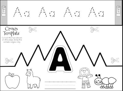 FREEBIE, Learn about the letter A with the free printables