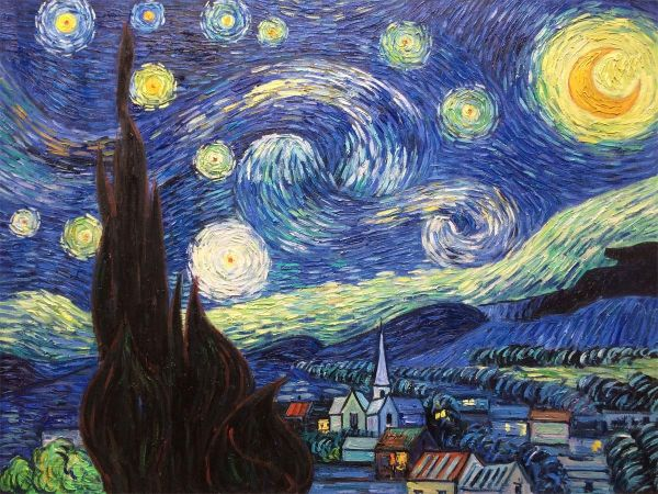 Christmas Famous Oil Painting Of Vincent Van Gogh