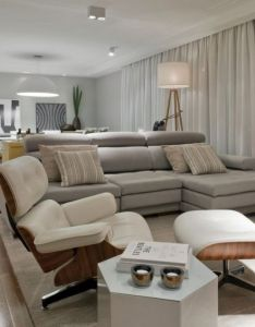 Living room layout design in modern apartment interior sao paulo brazil by kwartet arquitetura photo also elegant contemporary rh za pinterest