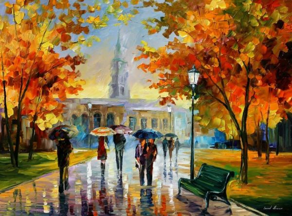 "Size 72""x48"" Leonid Afremov Oil Canvas Palette Knife"