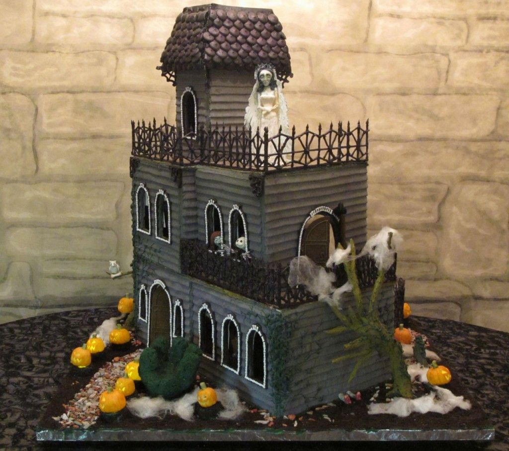 Halloween Gingerbread House Pictorials How To Make Haunted