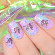 holographic unicorn nails simplynailogical