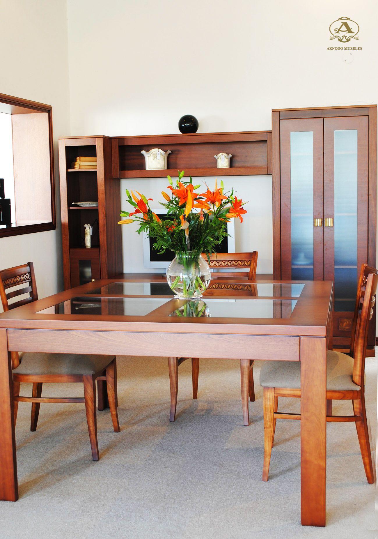 Comedor mesa aero cuadrada con vidrio Para tu espacio