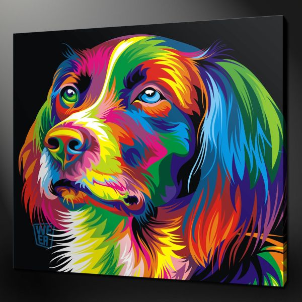 Abstract Dog Paintings Of Animal Canvas Wall Art
