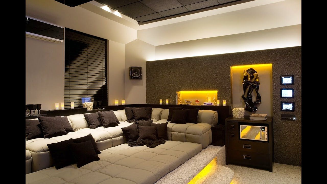 Home Theater In The Living Room A Few Tips YouTube Home Theatre   Living Room  Pinterest