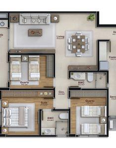 dormitorios vagas garagem  also planos de casas modernas rh pinterest