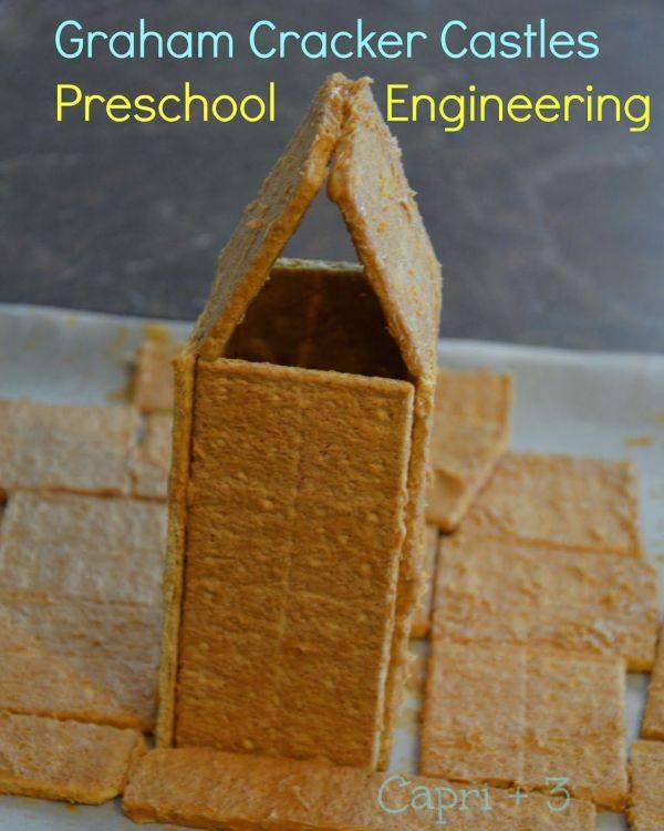 Capri 3 Graham Cracker Castles-preschool Engineering