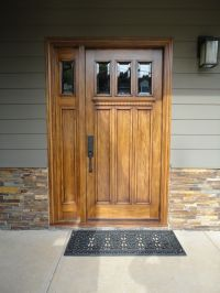 3 light 3 panel Craftsman Entry door with one 1 light 1 ...