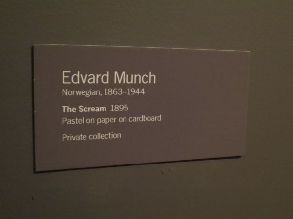 "Edvard Munch "" Scream"" 1895 Pastel Paper Cardboard Museum Of Modern Art"