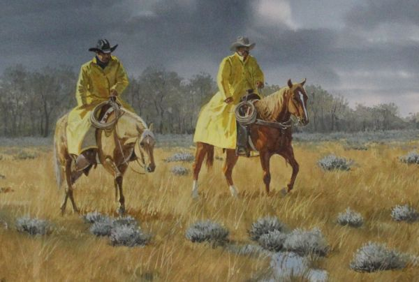 """Original Painting Ron Stewart """"cold Wet And Hungry"""