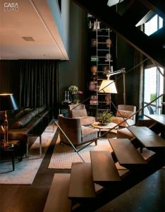 Un duplex  sao paulo planete deco homes world living room designsliving spacesblack decorbest also rooms rh pinterest