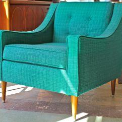 Turquoise Lounge Chair Desk For Bedroom Mcm Atomic Dowel Legs Vintage Green