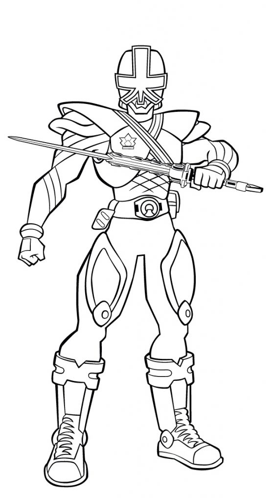 Printable Power Rangers Samurai Picture To Color