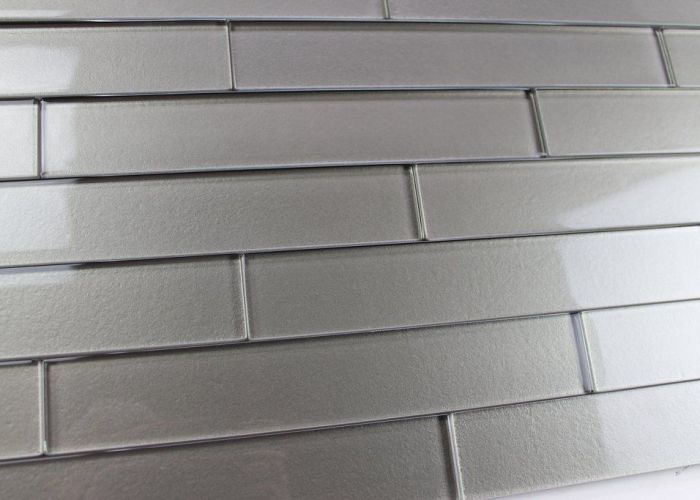 dark earthy textured glass tile with subtle color variation from piece to arrange also elements forest  subway tiles and