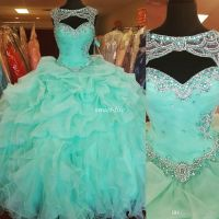 Custom Made Mint Green Ball Gown Quinceanera Dresses ...