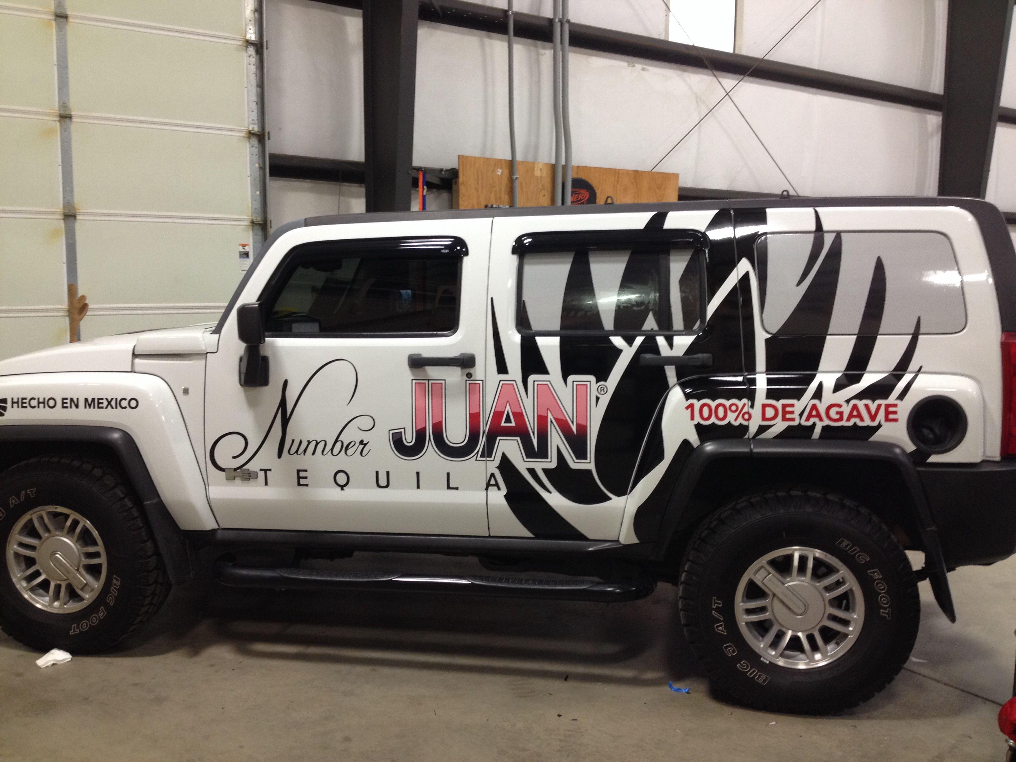 Number Juan tequila H2 hummer Vehicle Wraps Pinterest