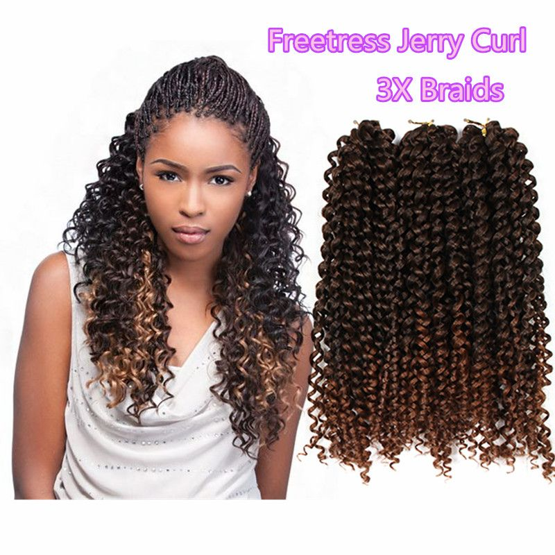 ombre freetress curly hair freetress crochet braid box