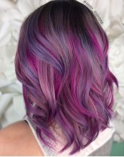 pretty pinkish purple hair hairstyles