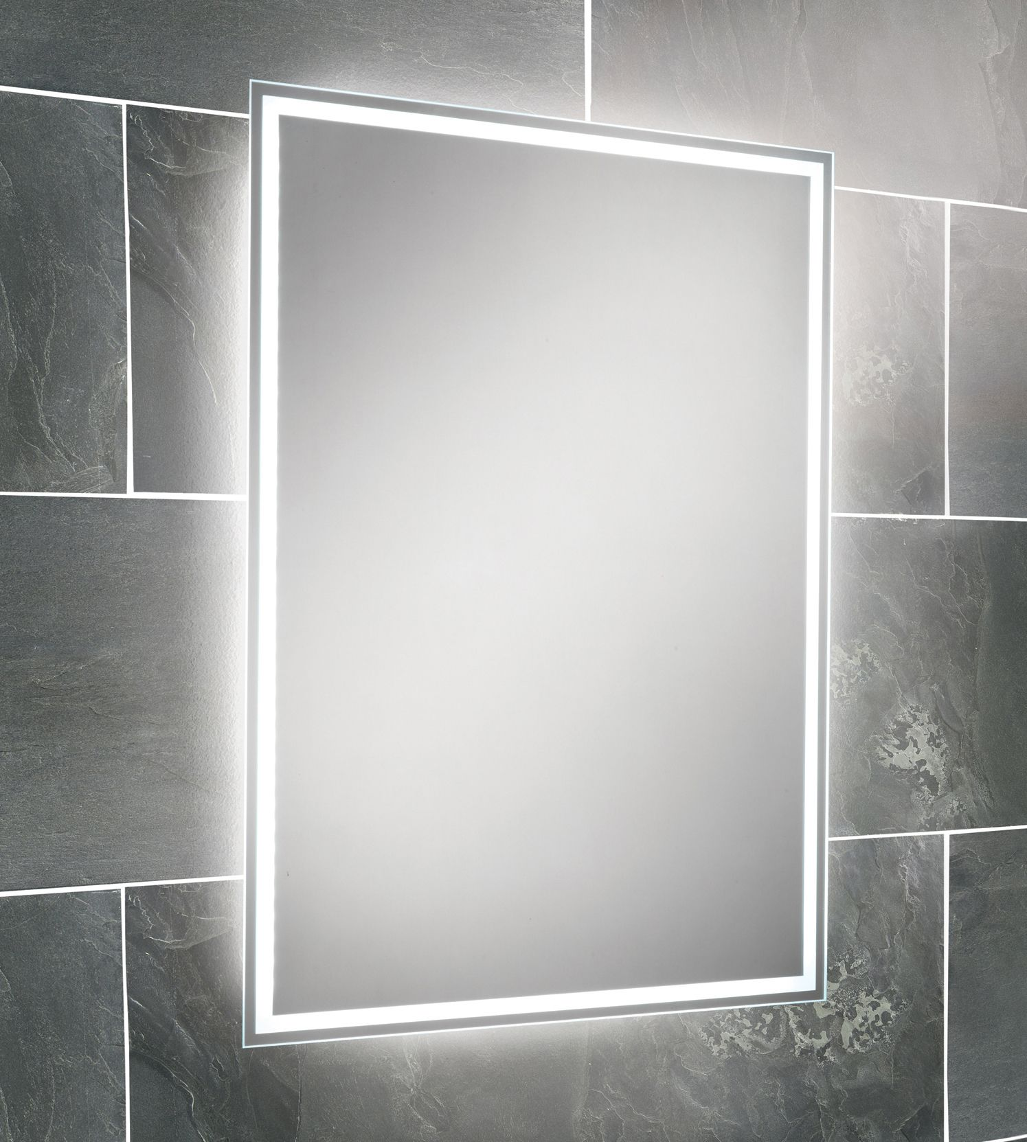 hib ella steam free led back-lit bathroom mirror 700 x 500mm