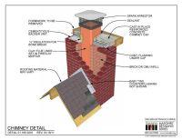 01.160.0201: Chimney Detail | Tech drawings | Pinterest ...