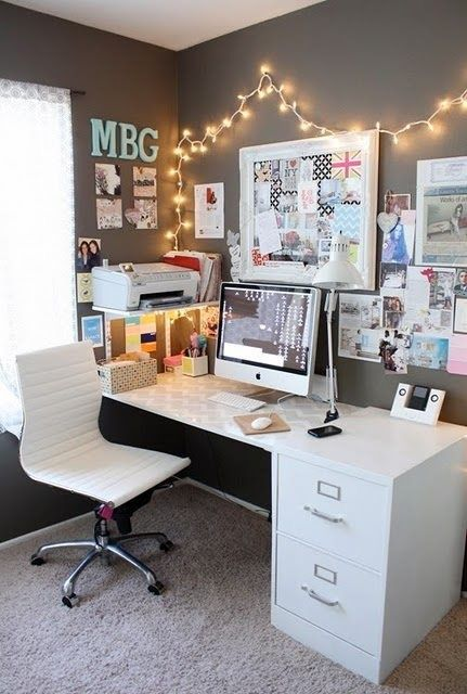 5 Home Offices I'm Lusting After Shelf Lights For The And Offices