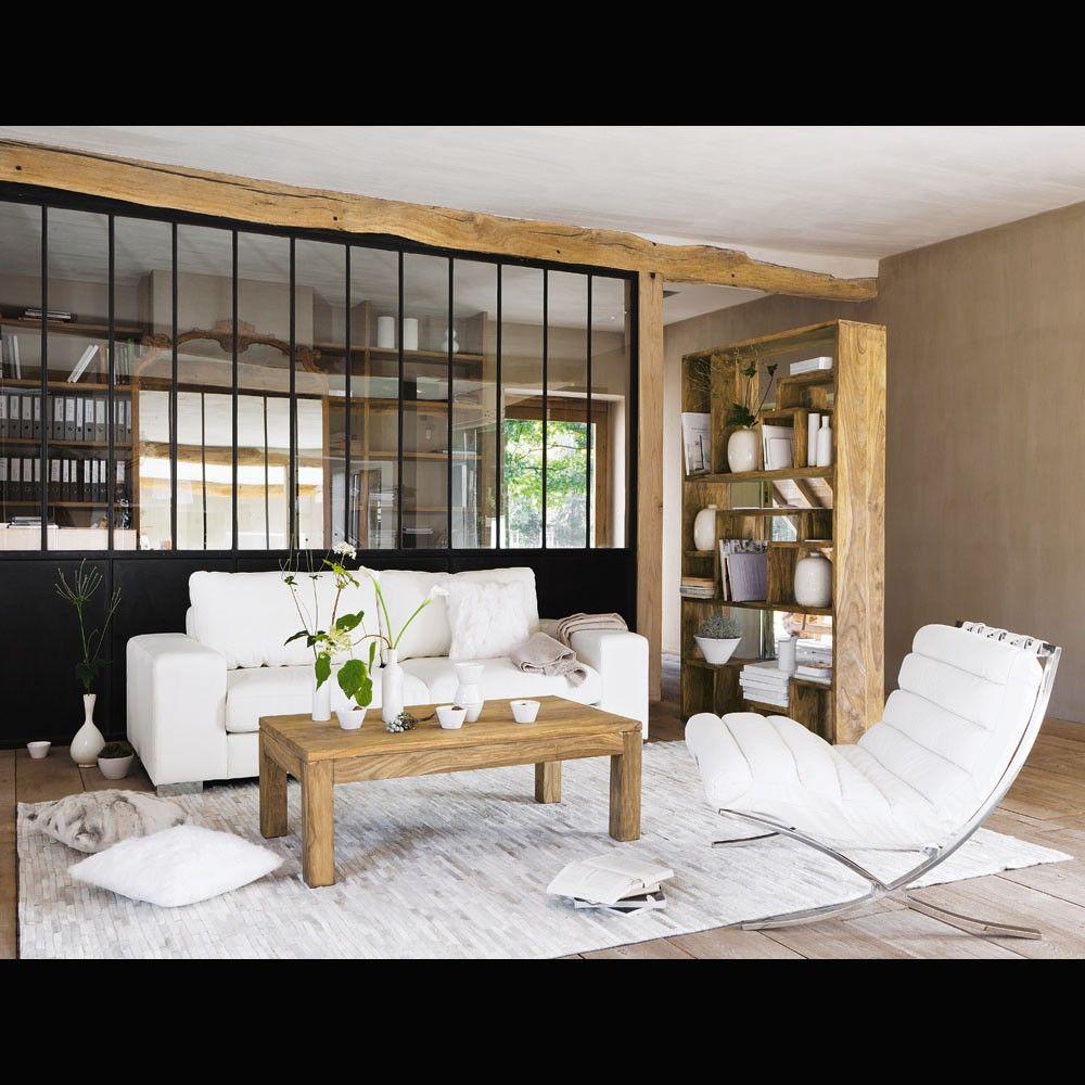 Table basse en bois de sheesham massif L110  Design table Stockholm and Living rooms