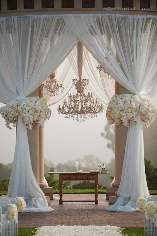Picture Perfect Wedding Ceremony Altar Ideas Summer Wedding
