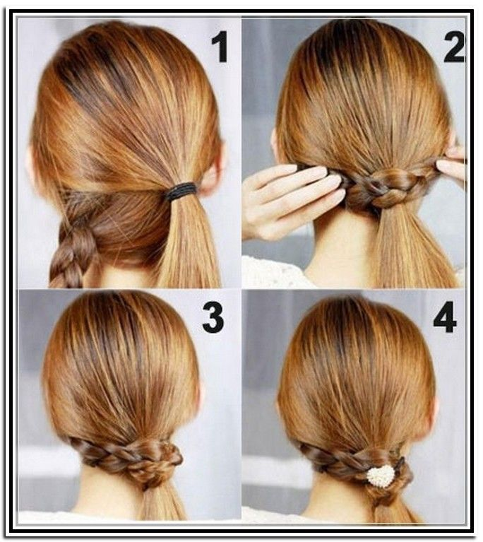 How To Do Easy Updos For Medium Length Hair Beauty And Hair
