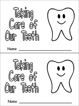 Taking Care of Our Teeth Emergent Reader for Kindergarten