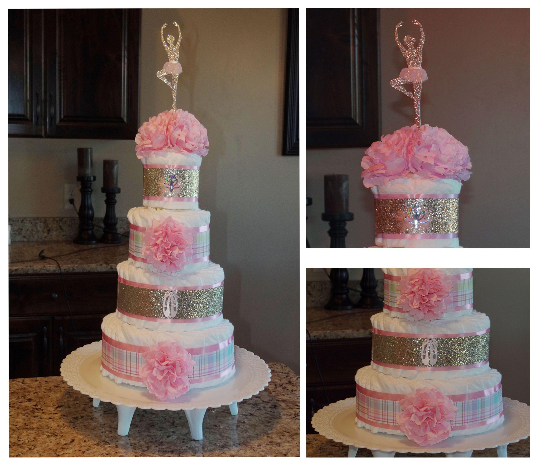Fun Ballerina Diaper Cake I Made For A Friend Having A